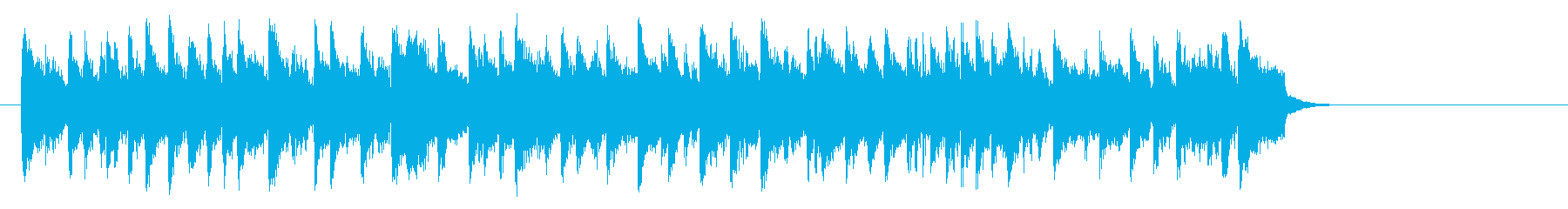 リゾート風ポップバラード(サビ)の再生済みの波形