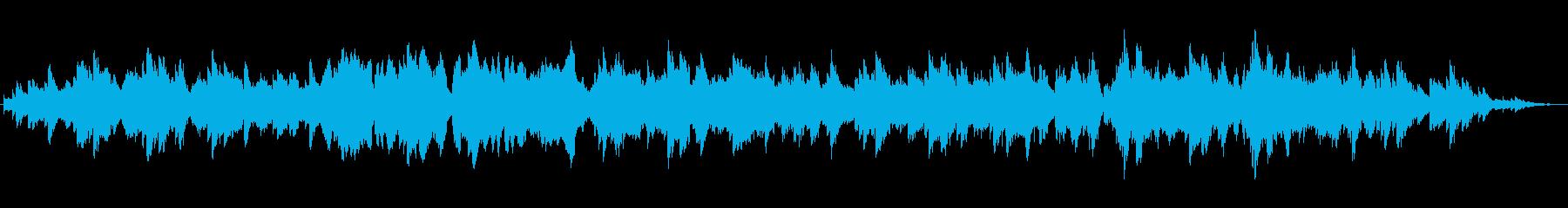 散歩番組街並み紹介ピアノアンサンブルの再生済みの波形