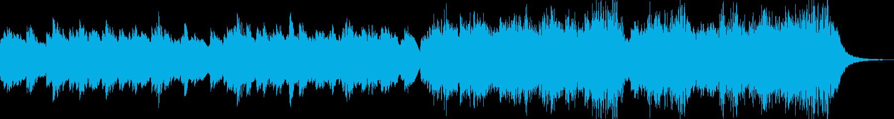 幻想的な空気感のシンプルな曲の再生済みの波形