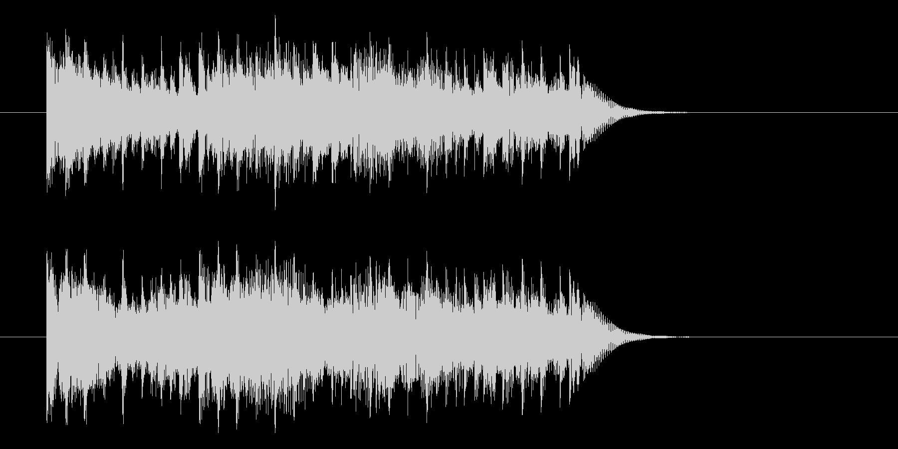 少し短い重みのあるアップテンポ曲の未再生の波形