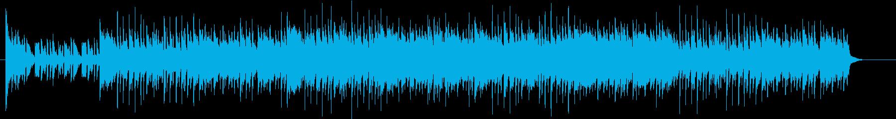 釣り動画で魚の当たりに適した楽曲ですの再生済みの波形