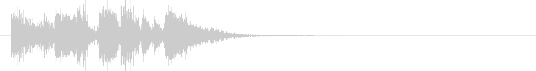 ポップなジングルの未再生の波形