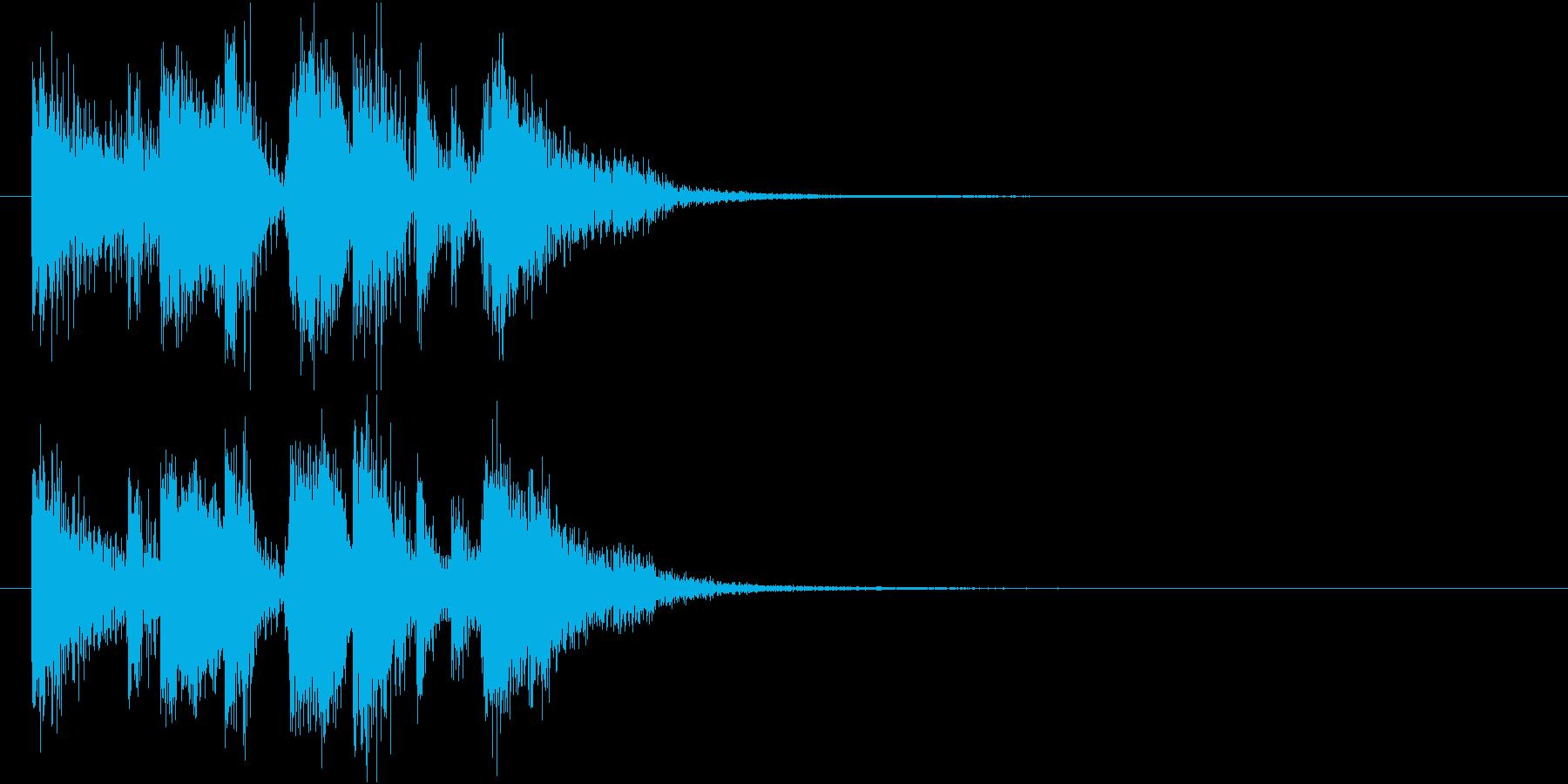 ポップなジングルの再生済みの波形