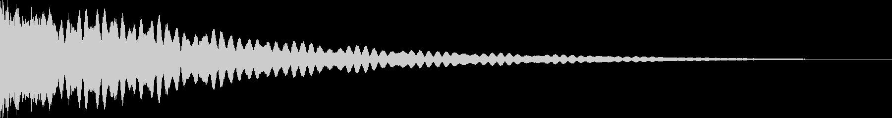Shaken (reflected sound when receiving one sword)'s unreproduced waveform