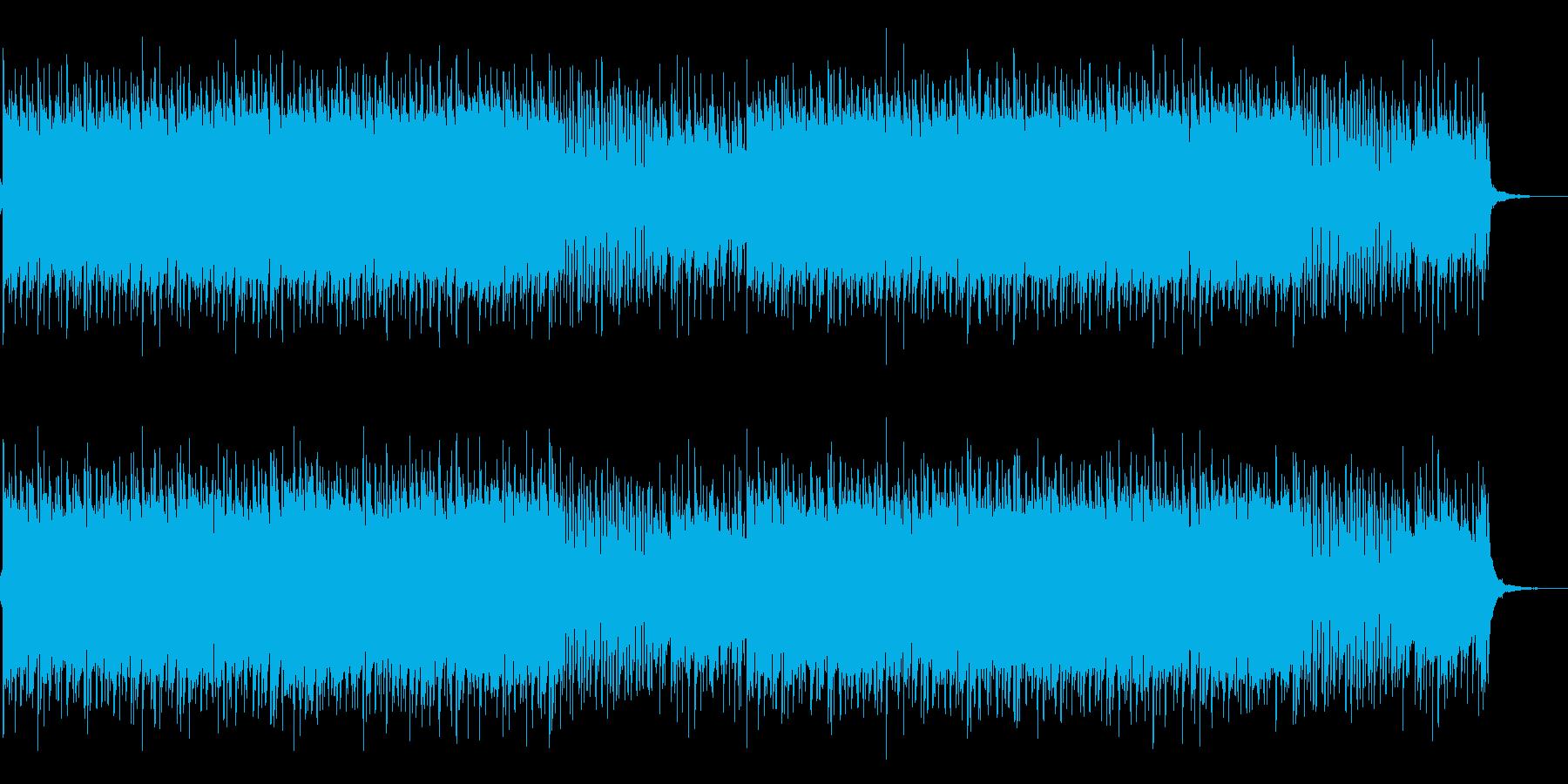 ニュースに使えるハウスミュージックの再生済みの波形