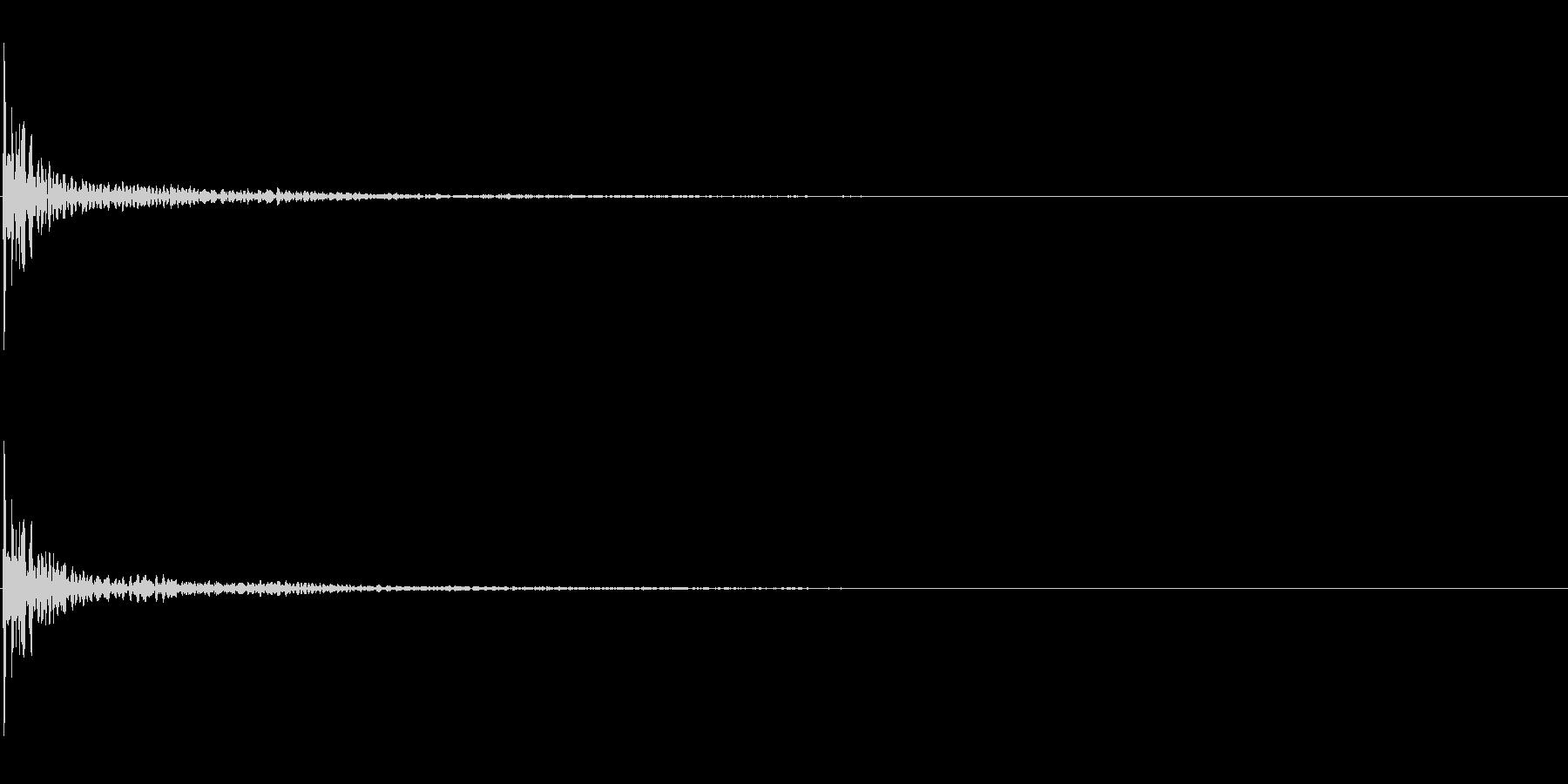 和太鼓の締太鼓の単発音+FXの未再生の波形