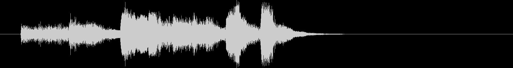 生演奏リコーダーの渋いジャズ風ジングルの未再生の波形