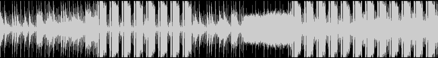 シンセメインの無機質でクールな曲 ループの未再生の波形