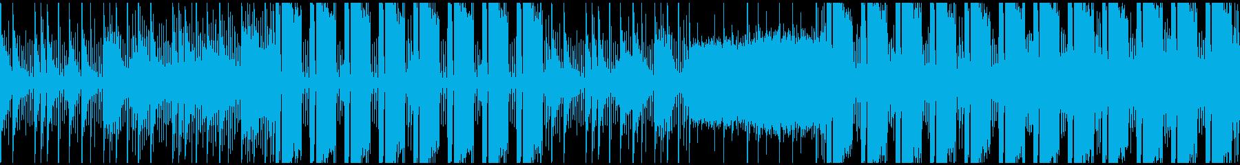 シンセメインの無機質でクールな曲 ループの再生済みの波形