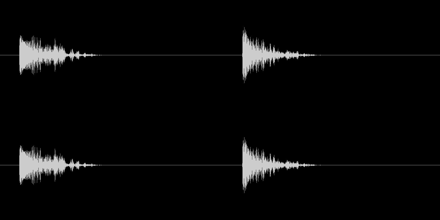 爆発26の未再生の波形