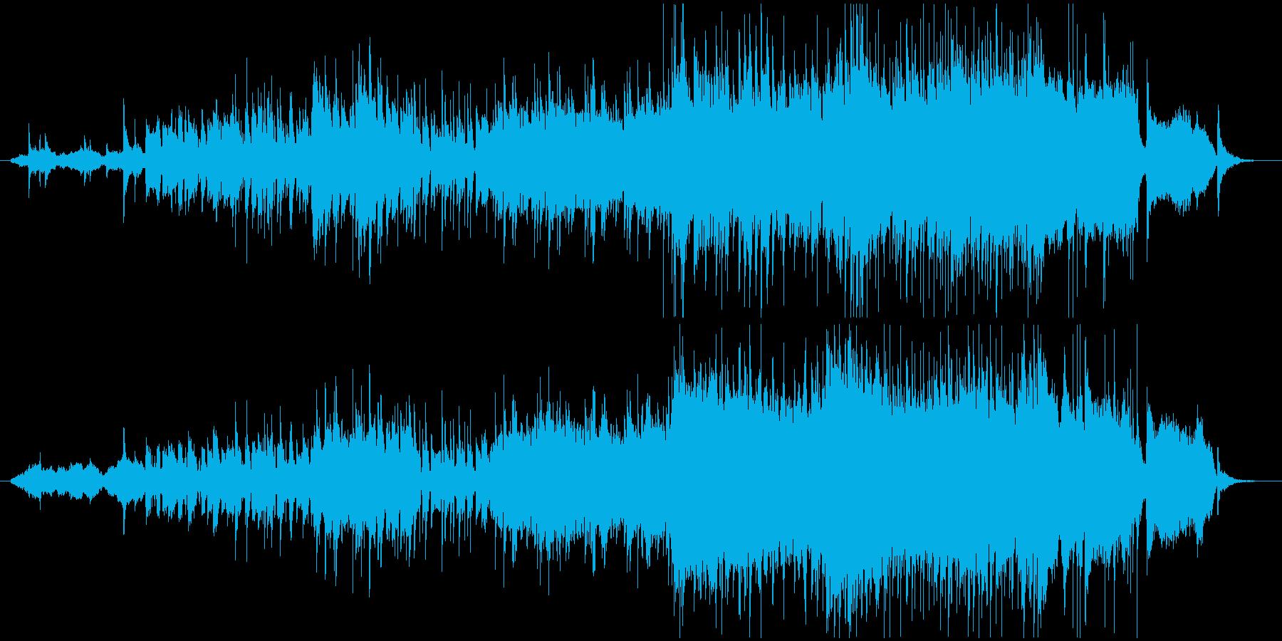 明るくて勢いのある力強いメロディーの再生済みの波形