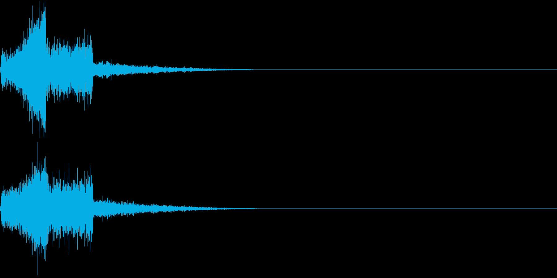 魔法詠唱音の再生済みの波形