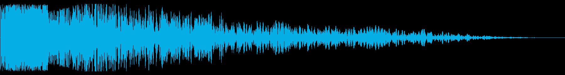 ピンポイント爆発の再生済みの波形