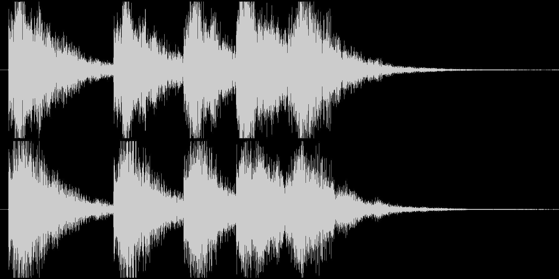 明るくインパクトのあるサウンドロゴの未再生の波形