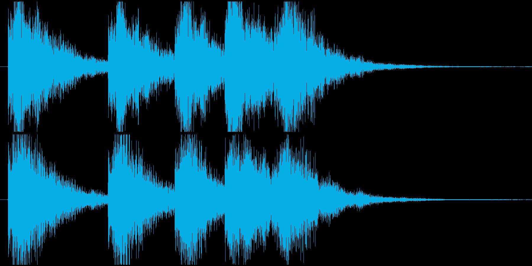 明るくインパクトのあるサウンドロゴの再生済みの波形