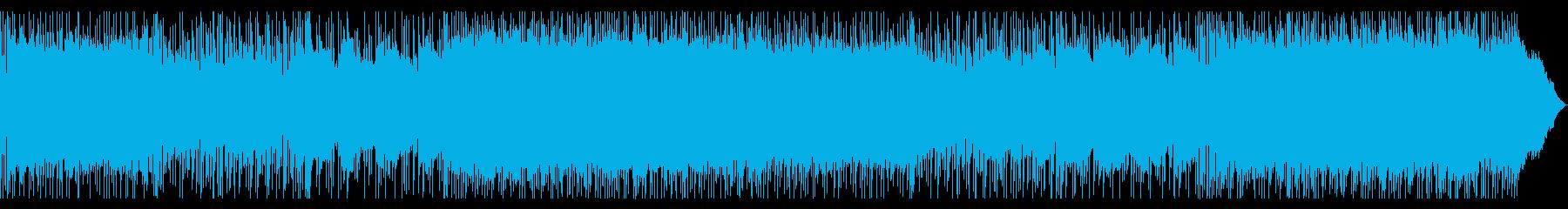 爽やかなギターロックの再生済みの波形