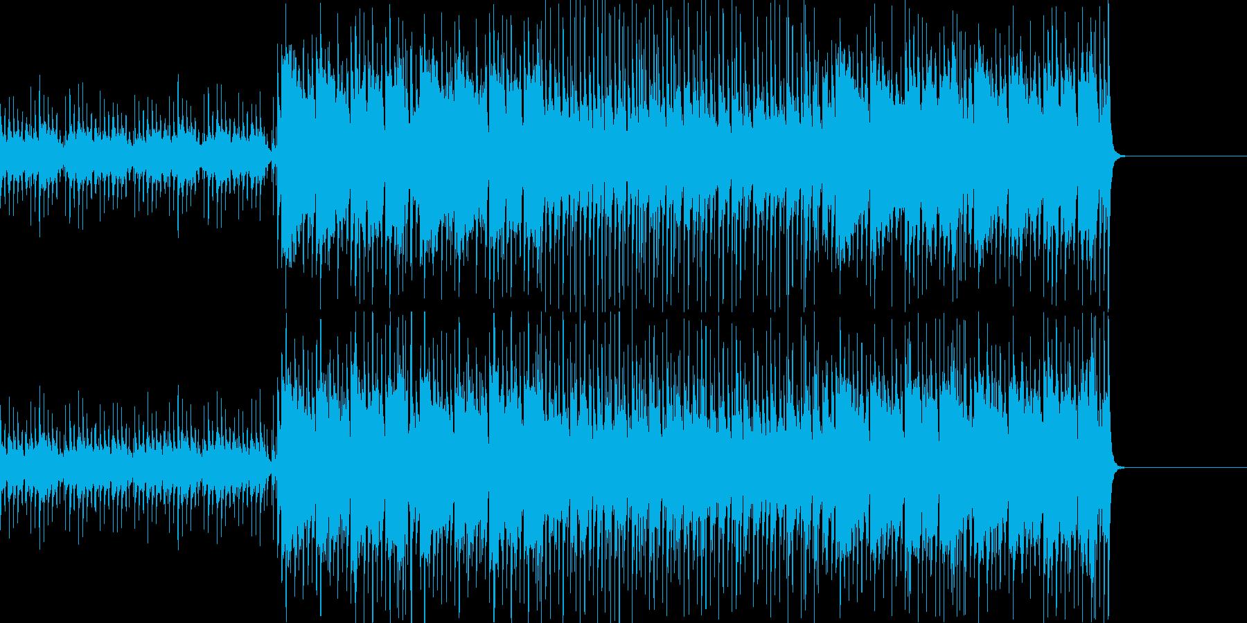 和楽器を使用した日本風ポップスの再生済みの波形