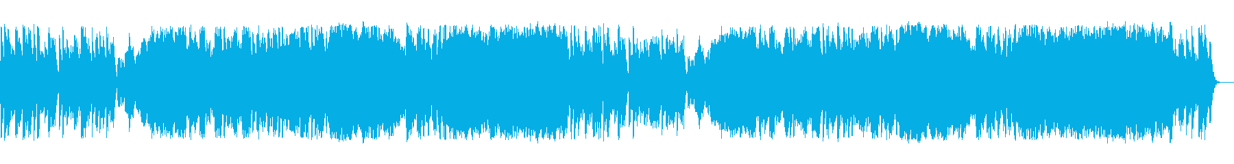 ほのぼのとしたゲーム系街のBGMの再生済みの波形