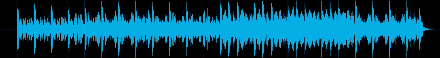 陽気な雰囲気の民族音楽の再生済みの波形