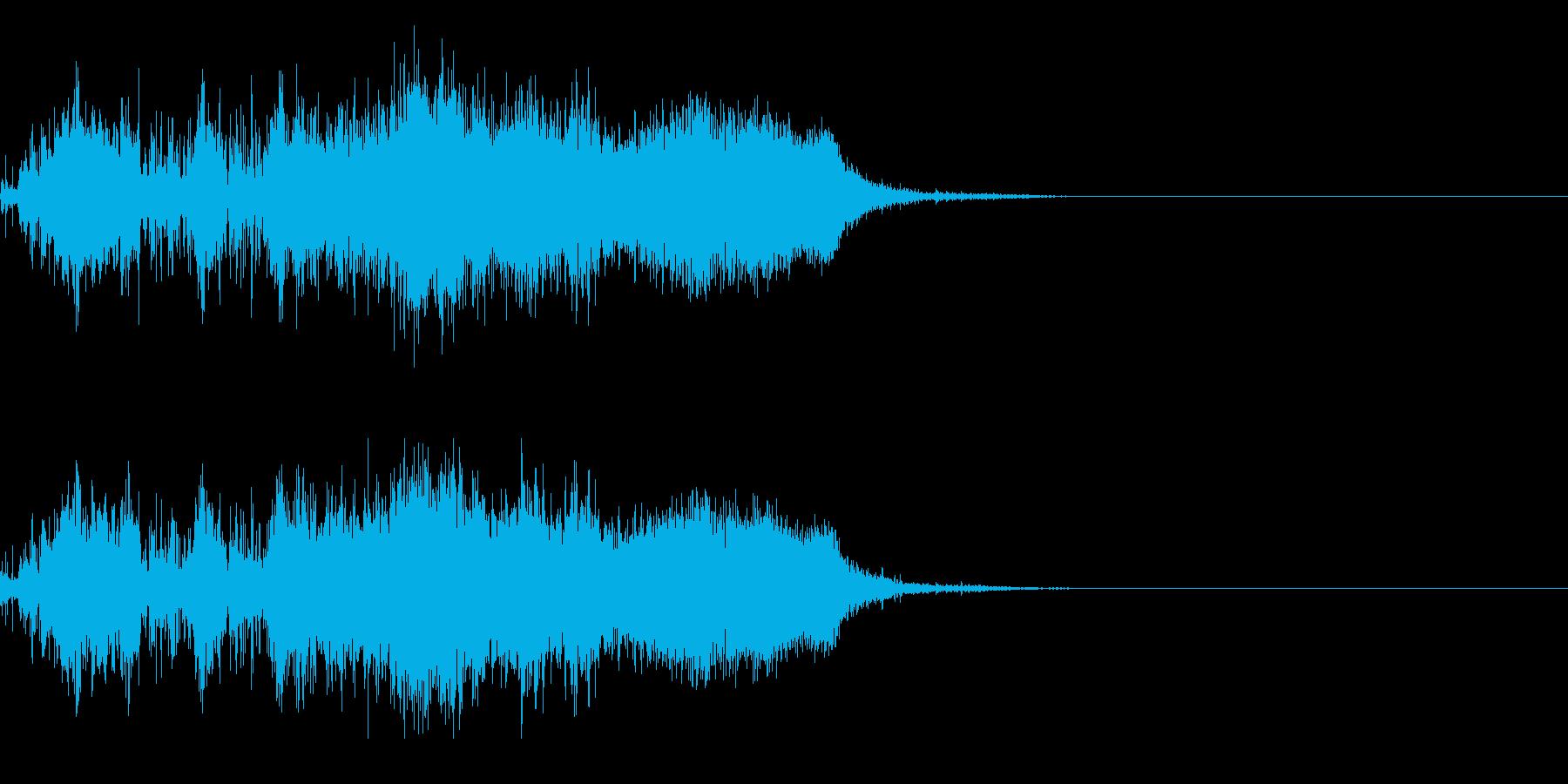 スパーク音-28の再生済みの波形