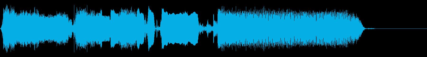 クールなエレキギターアイキャッチ7の再生済みの波形