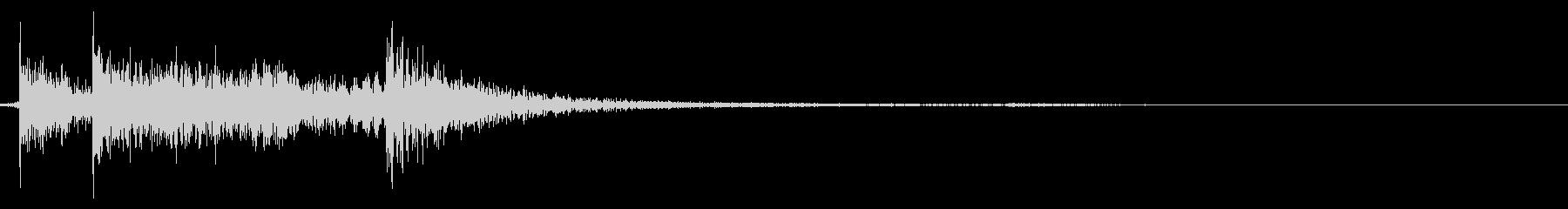 決定/ボタン押下音(カイッ)の未再生の波形