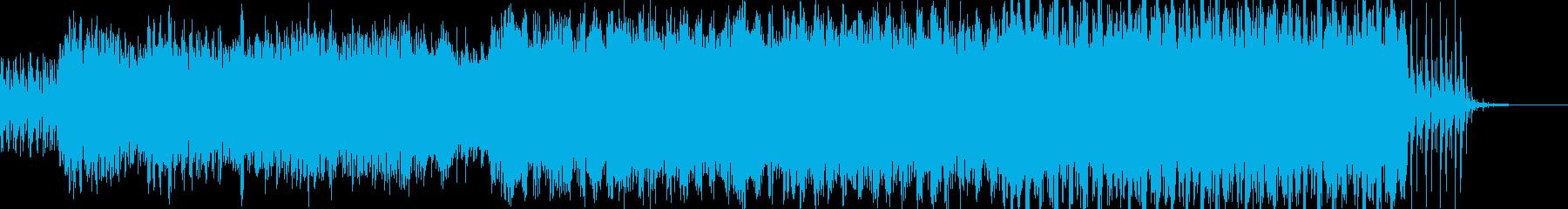幻想的で緊張感のある曲の再生済みの波形