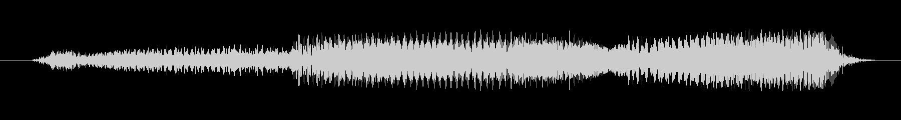 鳴き声 男性スクリームフォースフル...の未再生の波形