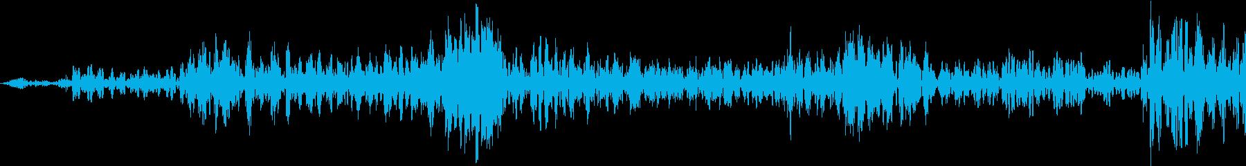 旋回スワイプの再生済みの波形
