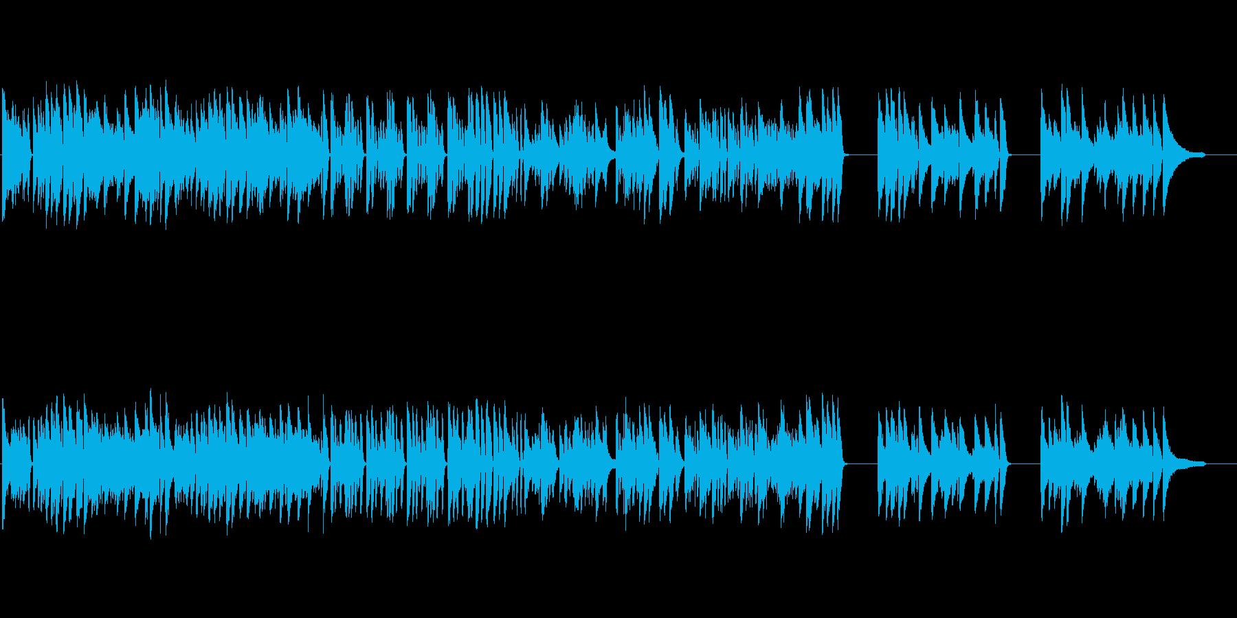 フュージョンライクなピアノトリオ楽曲の再生済みの波形