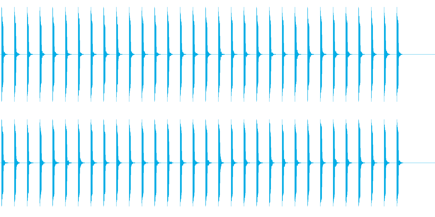 心電図の音-4-3(BPM60)の再生済みの波形