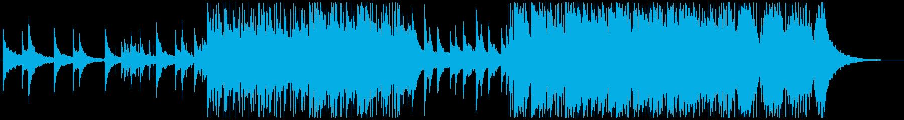 ポジティブで刺激的なポップロックの再生済みの波形