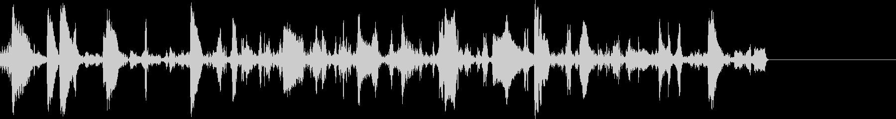 ブクブク・泡の音の未再生の波形