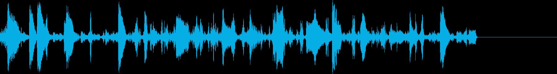 ブクブク・泡の音の再生済みの波形