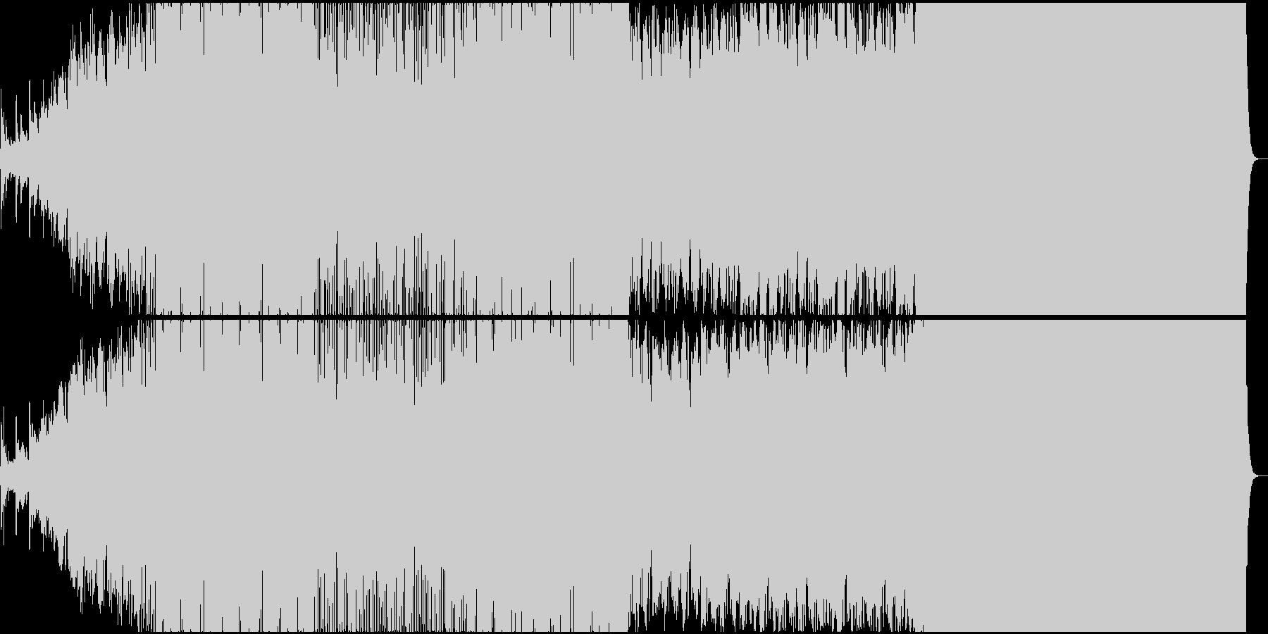 デトロイトテクノをベースにした映画音楽の未再生の波形