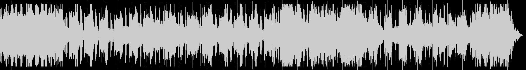 ダークでミステリアスなベース主体のBGMの未再生の波形