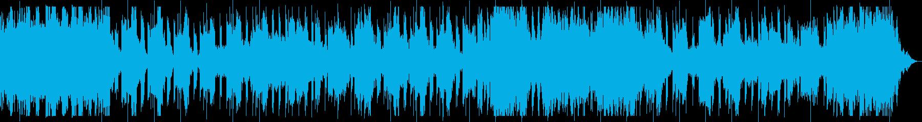 ダークでミステリアスなベース主体のBGMの再生済みの波形
