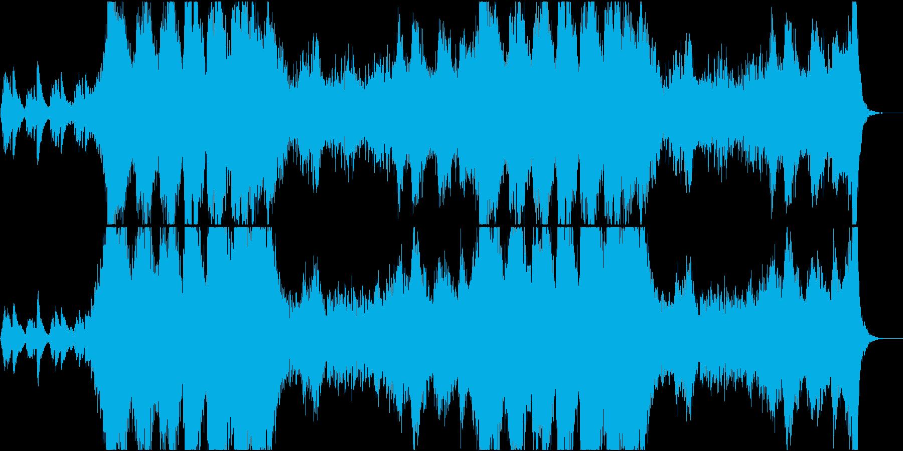 ホラー系壮大なサスペンス映画テーマ曲の再生済みの波形