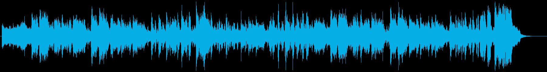 カレーをテーマにした楽曲の再生済みの波形