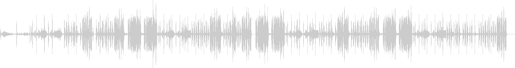 低音の入ったリズム曲です。の未再生の波形