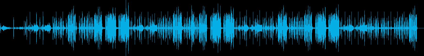 低音の入ったリズム曲です。の再生済みの波形