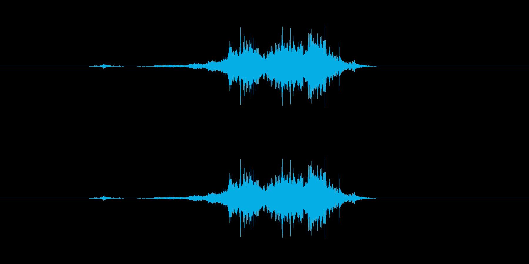 シューカシャ(剣を鞘にしまう音)の再生済みの波形