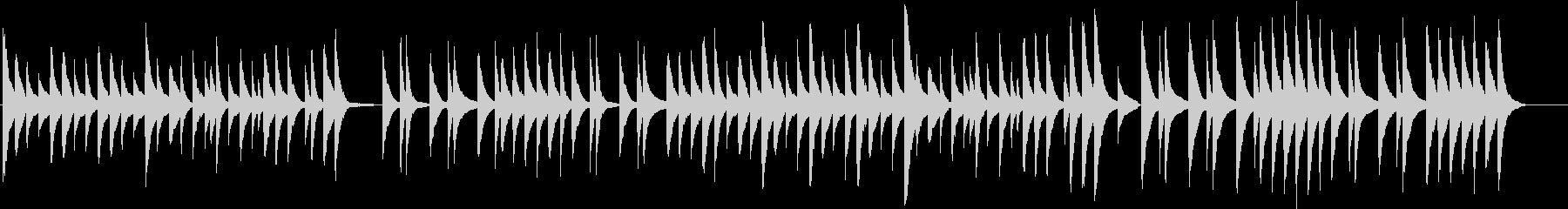 シンプルだけど癒やされるピアノ曲の未再生の波形