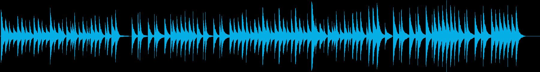 シンプルだけど癒やされるピアノ曲の再生済みの波形
