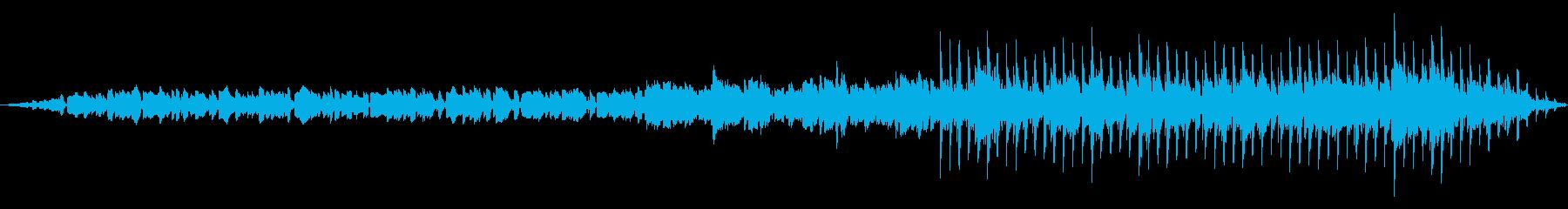 ミニマルテクノな曲の再生済みの波形