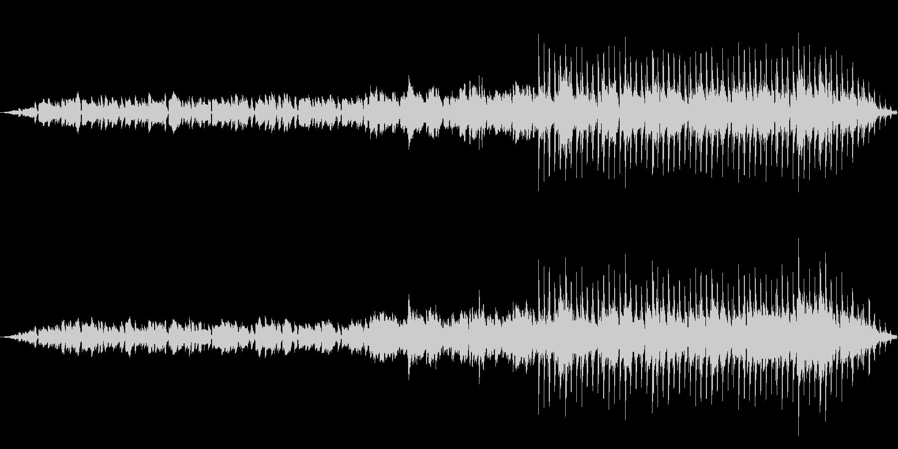 ミニマルテクノな曲の未再生の波形