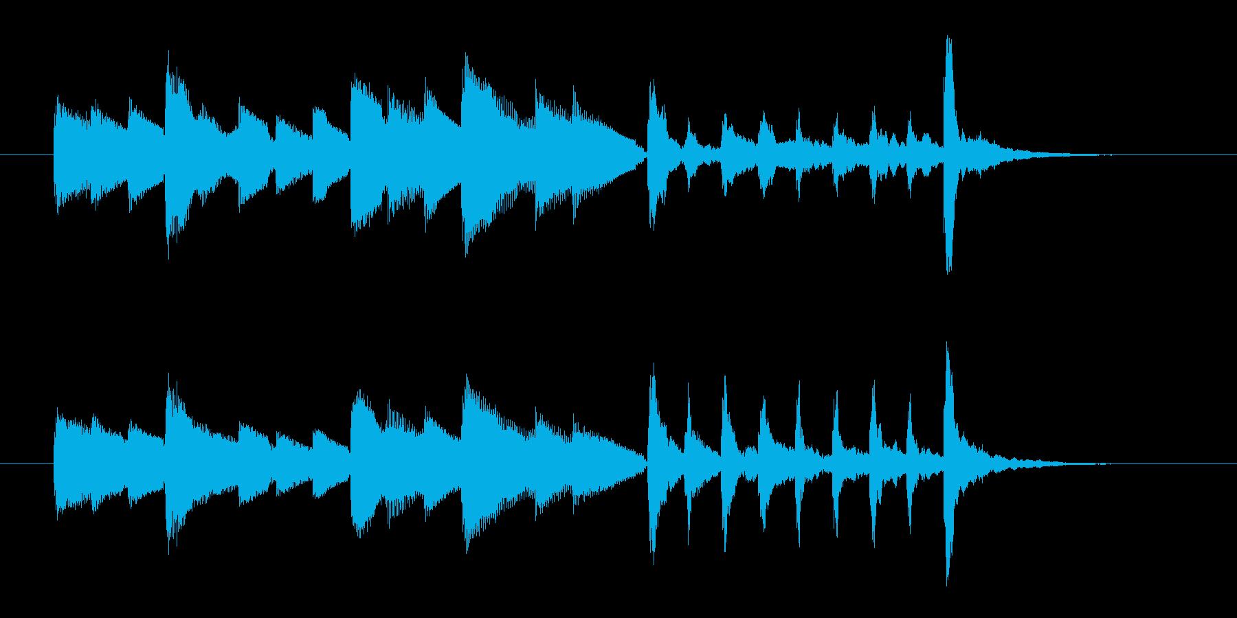 オルゴールのような優しいメロディのポップの再生済みの波形