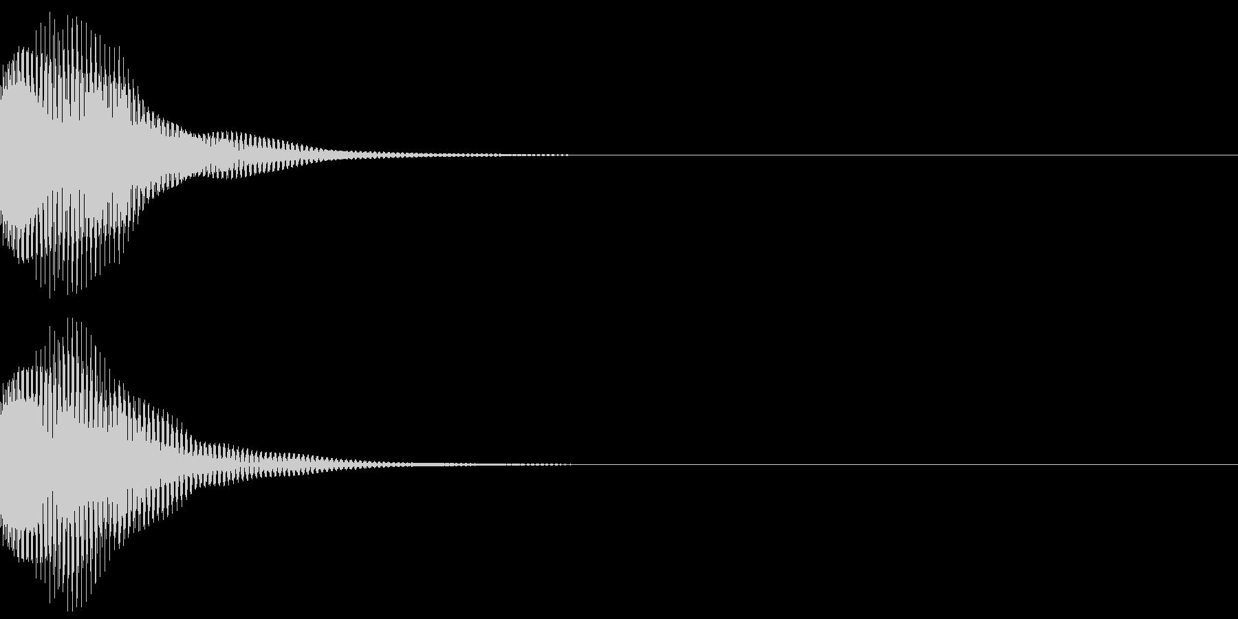 ポン(デジタル・ボタン・決定・クリック)の未再生の波形