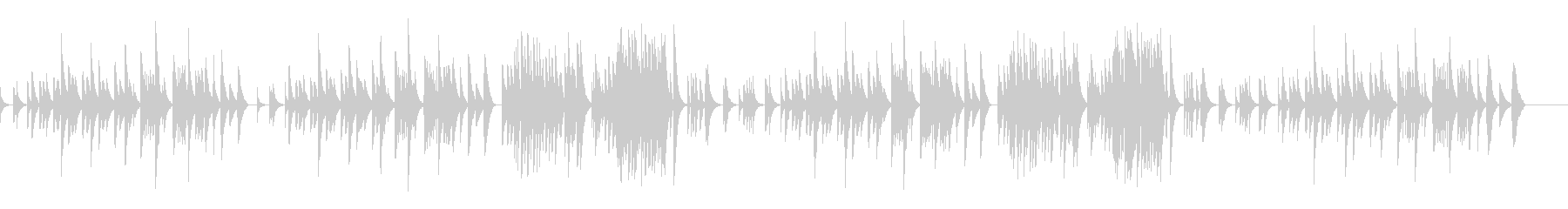 キラキラ星変奏曲(VarXⅠ)オルゴールの未再生の波形
