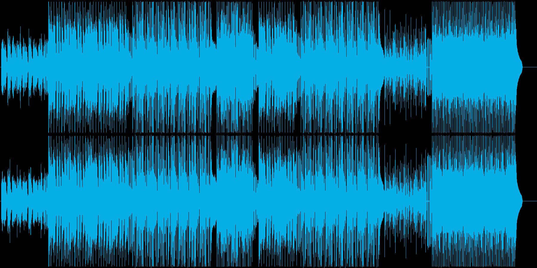 K-POP、トラップハードラック♪の再生済みの波形